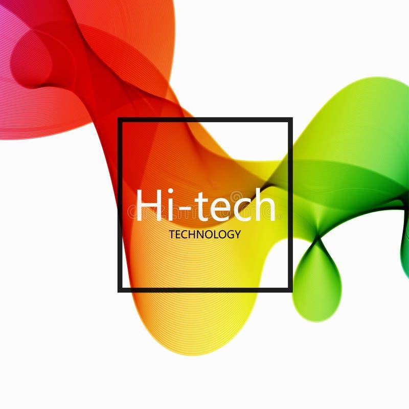 Fondo abstracto de alta tecnología colorido moderno del vector stock de ilustración
