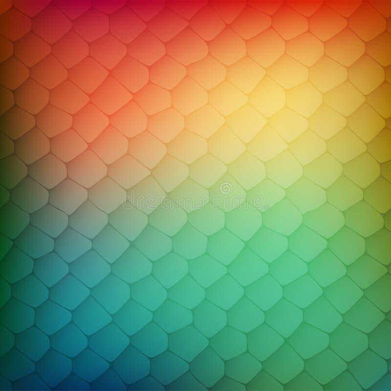 Fondo abstracto de células coloreadas stock de ilustración
