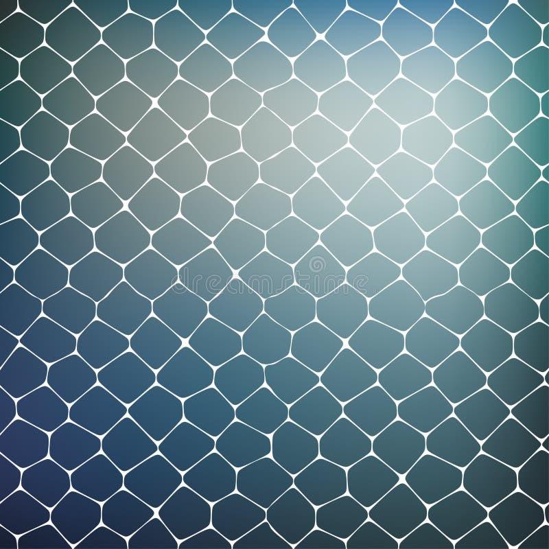Fondo abstracto de células coloreadas ilustración del vector