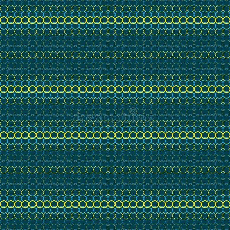 Fondo abstracto de círculos amarillos y azules, inconsútil libre illustration