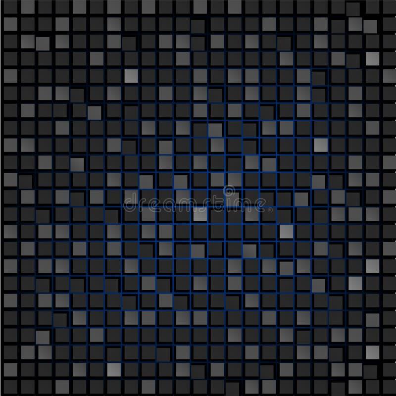 Fondo abstracto de casillas negras Papeles pintados para los sitios web Los pequeños rectángulos están conectados Contexto que br stock de ilustración
