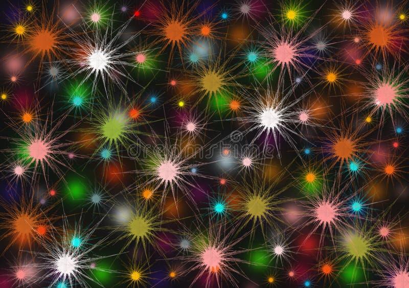 Fondo abstracto de color de ráfaga de luz para su uso en celebraciones imagen de archivo libre de regalías
