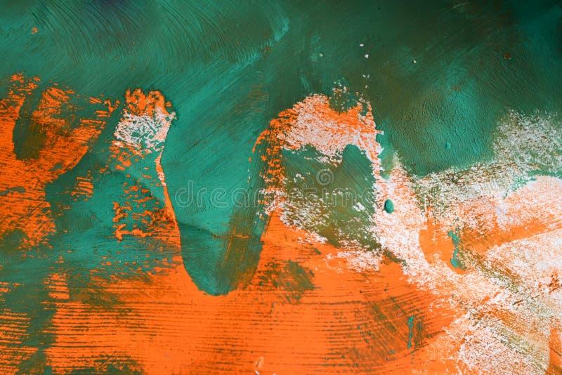 Fondo abstracto de colores anaranjados y verdes imagenes de archivo