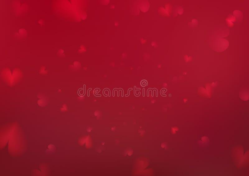 Fondo abstracto de día de San Valentín, ejemplo festivo del extracto del vector del día de fiesta de la decoración de la dispersi ilustración del vector