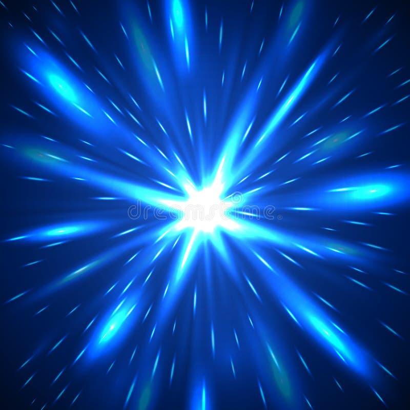 Fondo abstracto de destello azul majestuoso ilustración del vector