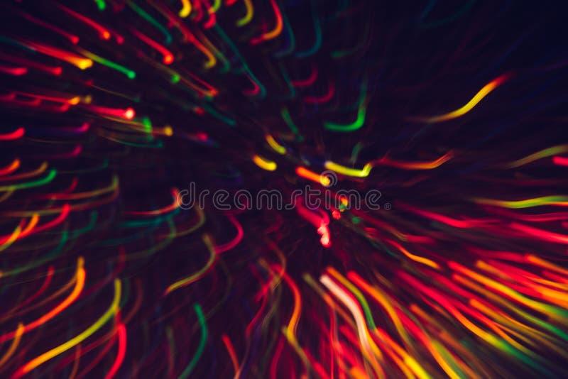 Fondo abstracto de líneas coloridas en el movimiento foto de archivo