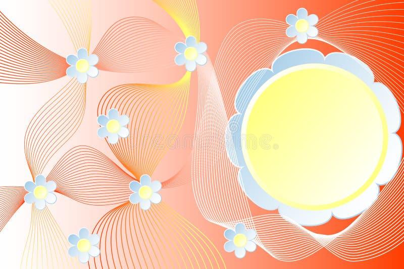 Fondo abstracto de líneas onduladas con colores ilustración del vector