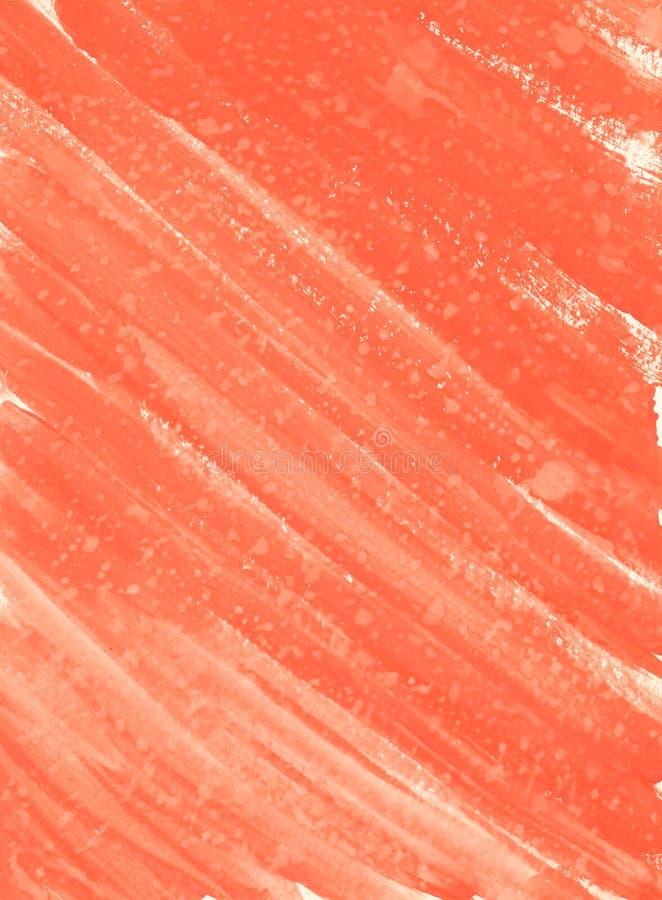 Fondo abstracto de la acuarela Fondo anaranjado de la acuarela, movimientos del cepillo diagonalmente libre illustration