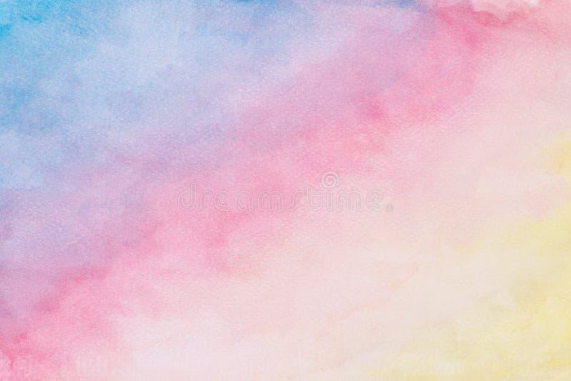 Fondo abstracto de la acuarela, banderas coloridas del diseño de la pintura de la mano de la acuarela ilustración del vector