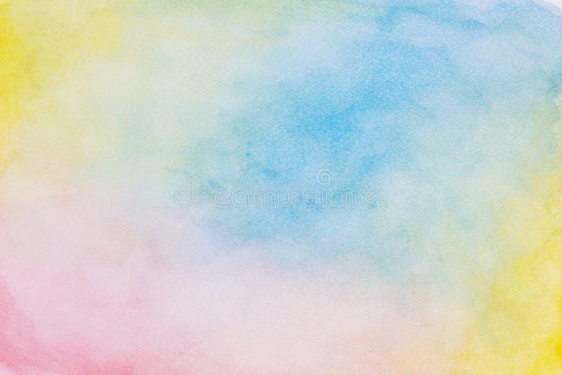 Fondo abstracto de la acuarela, banderas coloridas del dise?o de la pintura de la mano de la acuarela stock de ilustración