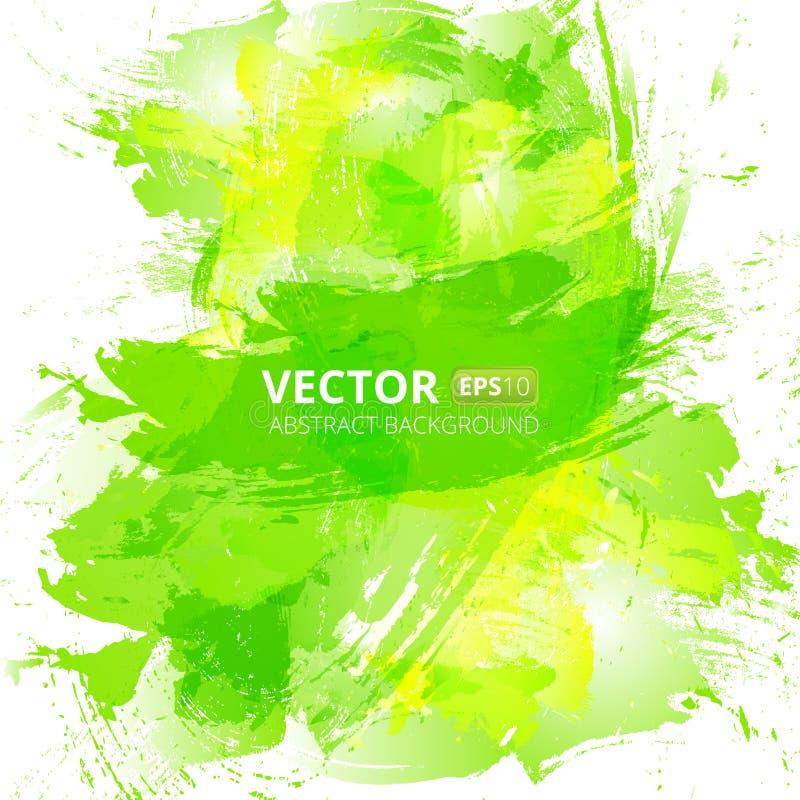 Fondo abstracto de la acuarela del verde del vector ilustración del vector