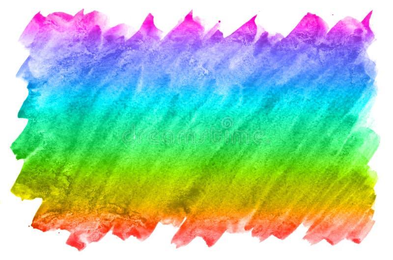 Fondo abstracto de la acuarela de las manchas multicoloras de la tinta de todos los colores espectrales Imagen de fondo hecha con ilustración del vector