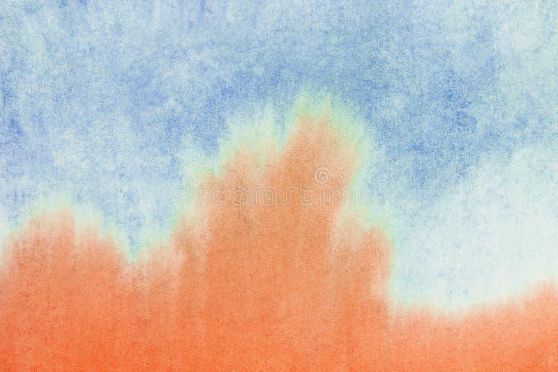 Fondo abstracto de la acuarela, pintura mojada dibujada mano original de la pendiente del waldorf Plantilla colorida con el lugar ilustración del vector