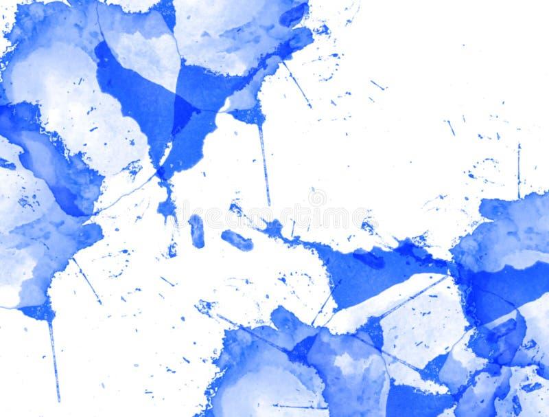 Fondo abstracto de la acuarela Textura (de papel) arrugada stock de ilustración
