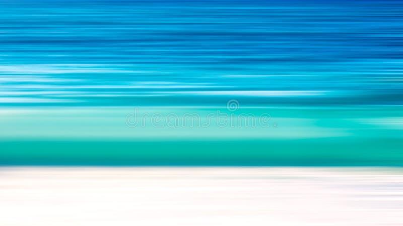 Fondo abstracto de la agua de mar azul de la falta de definición de movimiento de onda del mar y de la arena blanca imagen de archivo libre de regalías