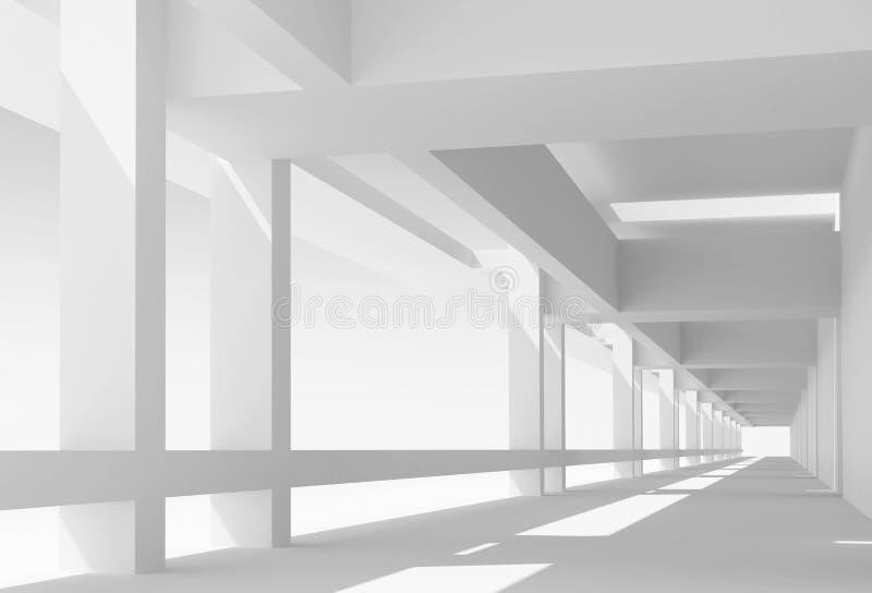 Fondo abstracto de la arquitectura 3d ilustración del vector
