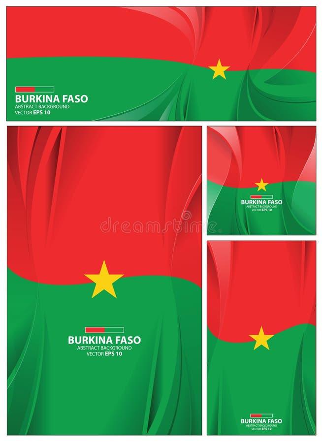 Fondo abstracto de la bandera de Burkina Faso ilustración del vector
