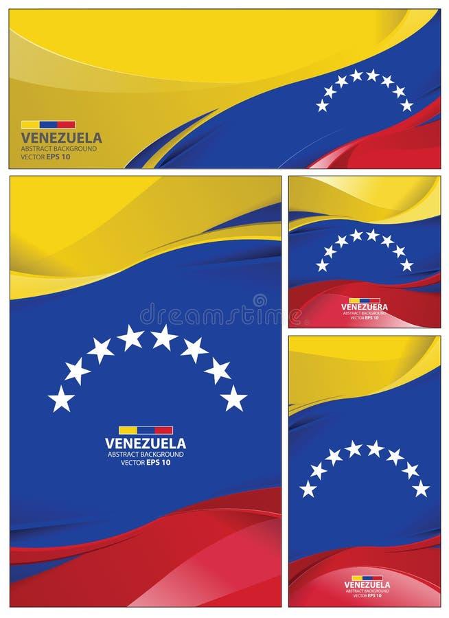 Fondo Abstracto De La Bandera De Venezuela Ilustración Del
