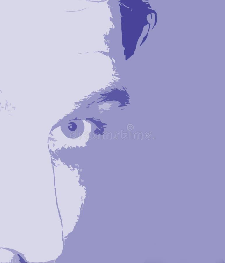 Fondo abstracto de la cara stock de ilustración