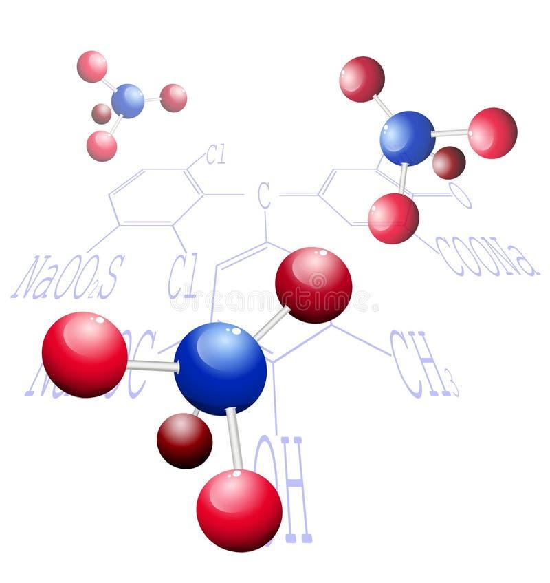 Fondo abstracto de la ciencia. Estructura molecular. stock de ilustración
