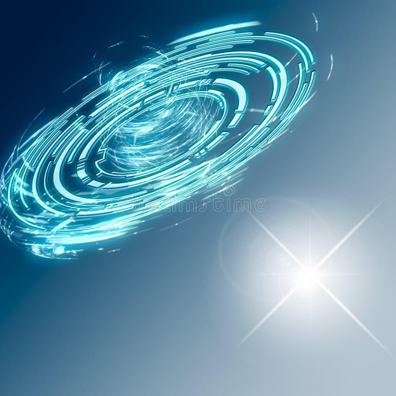 Fondo abstracto de la ciencia ficción Tecnología y viaje espacial futuristas libre illustration