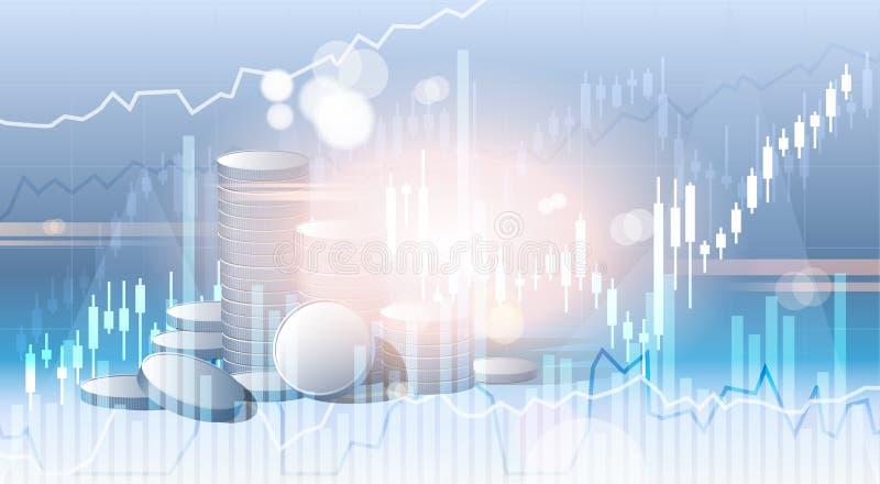 Fondo abstracto de la ciudad de la silueta de los ahorros de las finanzas de la bandera del negocio bancario