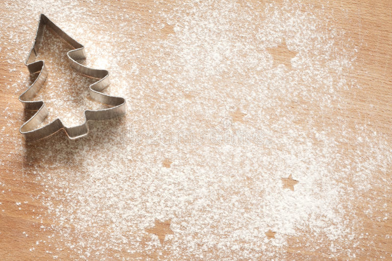 Fondo abstracto de la comida de la Navidad con las galletas imagen de archivo