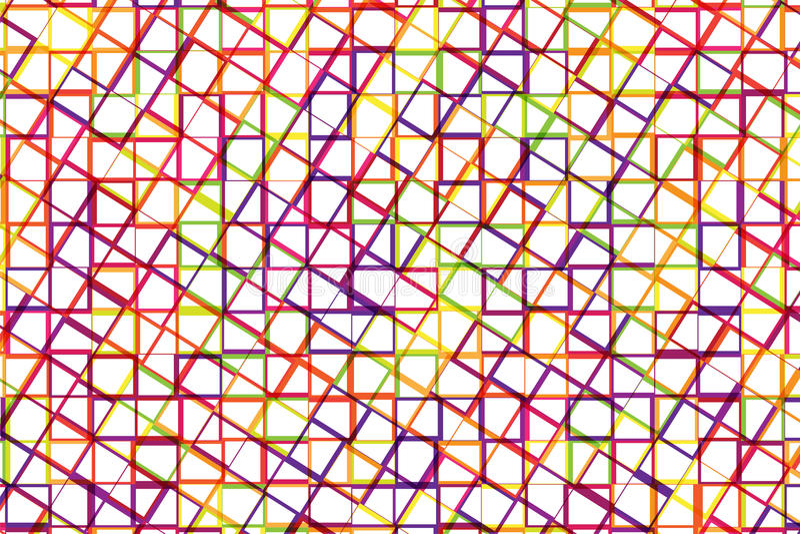 Fondo abstracto de la cruz colorida de la raya y del cuadrado junto ilustración del vector