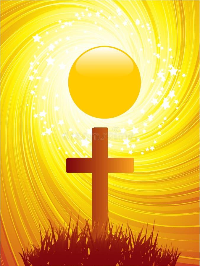 Fondo abstracto de la cruz de Pascua ilustración del vector