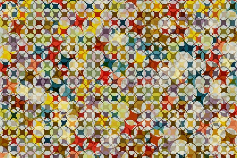 Fondo abstracto de la cruz y de la mezcla coloridas de la forma de la estrella junto fotografía de archivo