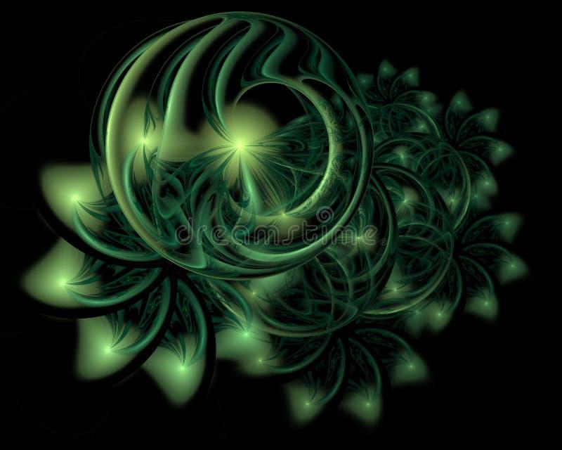 Fondo abstracto de la decoración de la Navidad en color verde suave ilustración del vector