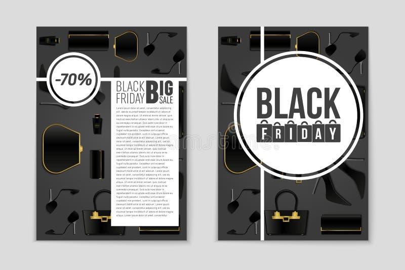 Fondo abstracto de la disposición de Black Friday del vector Para el diseño creativo del arte, lista, página, estilo del tema de  libre illustration
