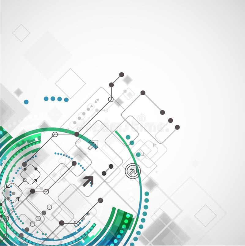 Fondo abstracto de la empresa informática de la tecnología del color stock de ilustración
