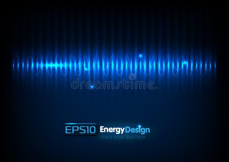 Fondo abstracto de la energía libre illustration