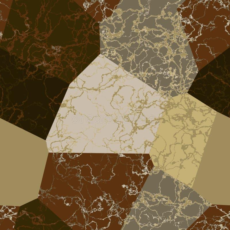 Fondo abstracto de la estructura de mármol con las grietas ilustración del vector