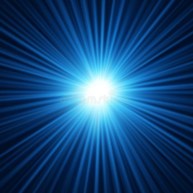 Fondo abstracto de la explosión de la estrella azul libre illustration