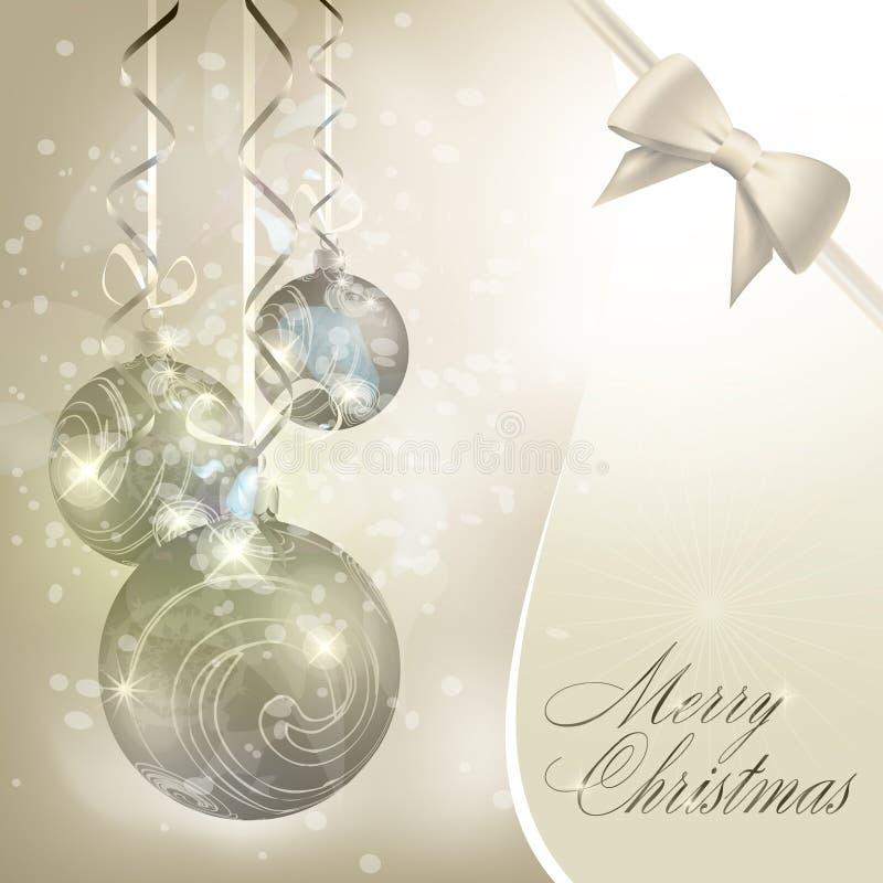 Fondo abstracto de la Feliz Navidad ilustración del vector