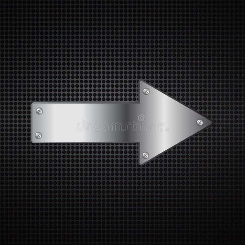 Fondo abstracto de la flecha del metal imágenes de archivo libres de regalías