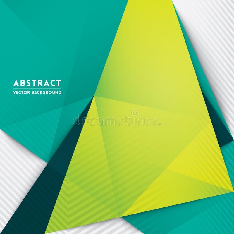 Fondo abstracto de la forma del triángulo ilustración del vector