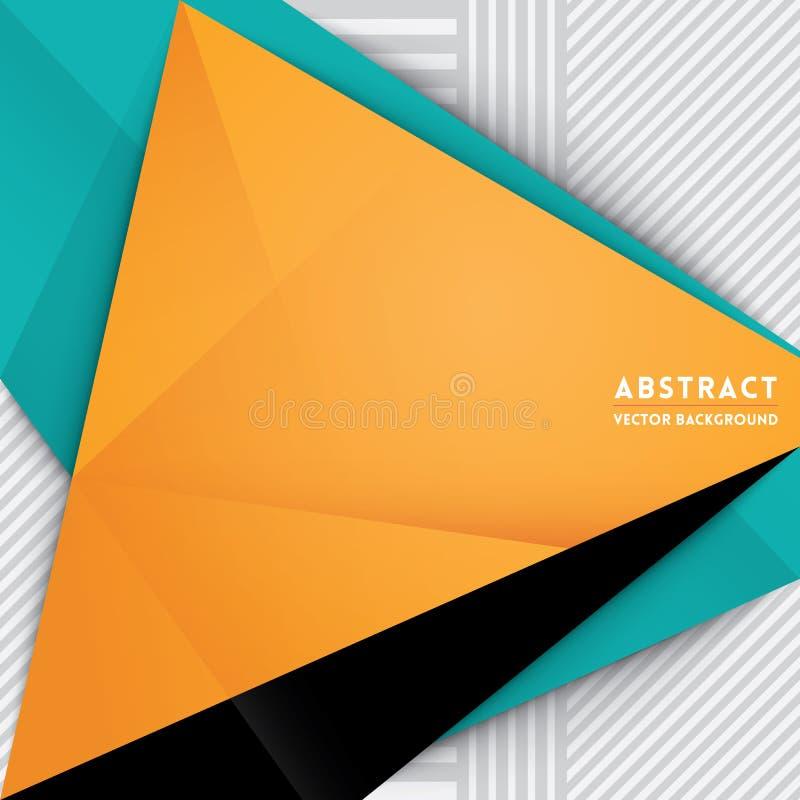 Fondo abstracto de la forma del triángulo stock de ilustración