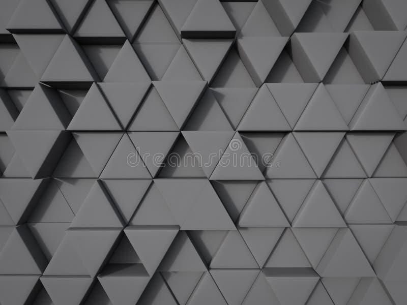 Fondo abstracto de la forma del triángulo en la posición al azar del color gris ilustración del vector