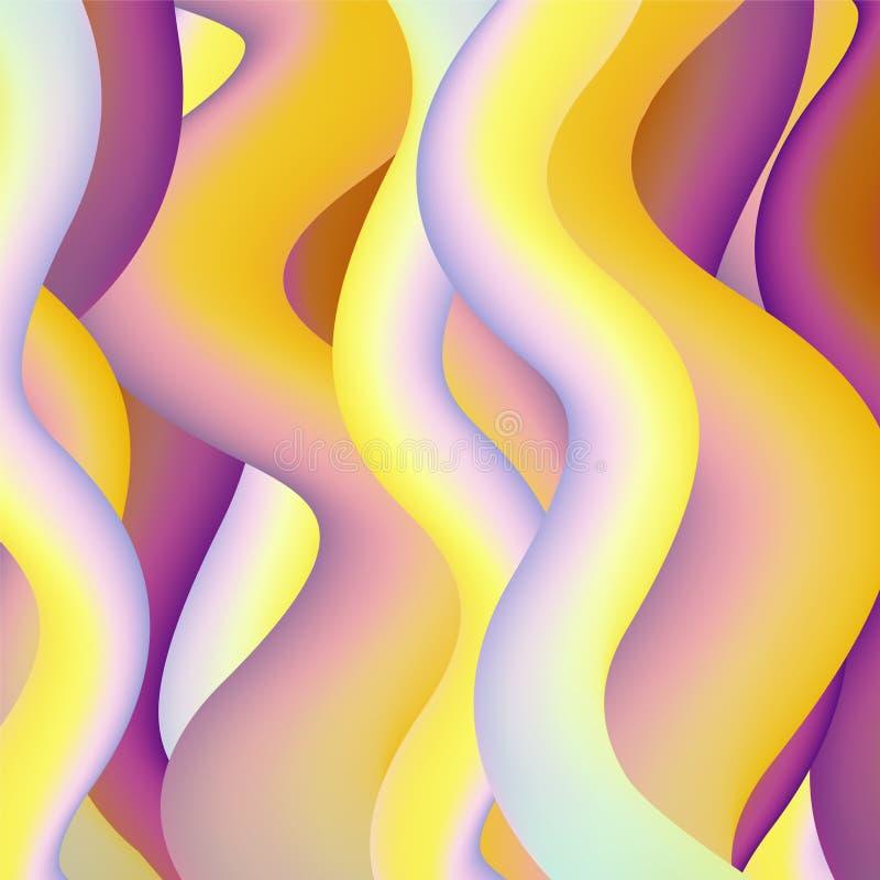Fondo abstracto de la forma del vector - ondas ilustración del vector