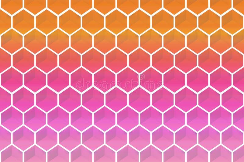Fondo abstracto de la forma de los hexagoms ilustración del vector