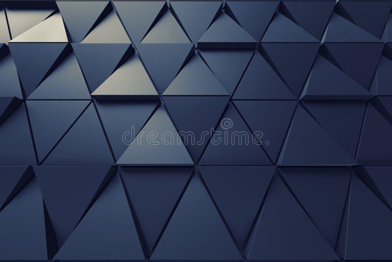 Fondo abstracto de la forma poligonal ilustración del vector