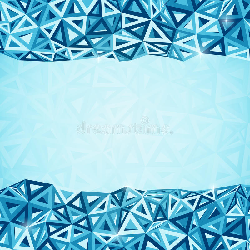Fondo abstracto de la geometría de los triángulos stock de ilustración