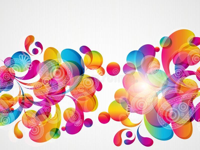 Fondo abstracto de la gota del color. libre illustration