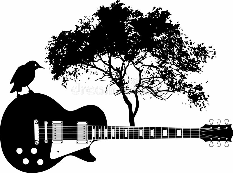 Fondo abstracto de la guitarra libre illustration
