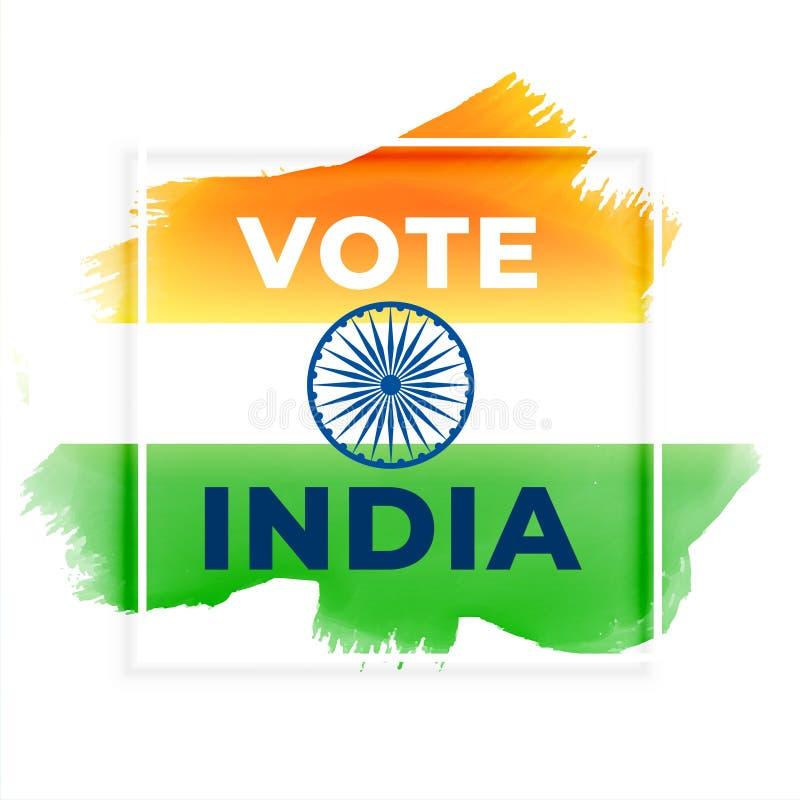 Fondo abstracto de la India del voto de la elección ilustración del vector