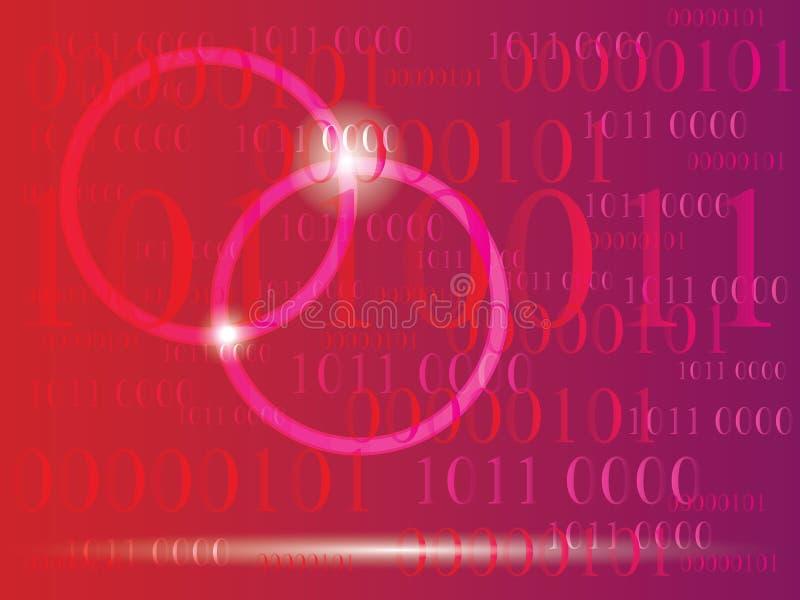 Fondo abstracto de la información con código binario Tecnología verde ilustración del vector
