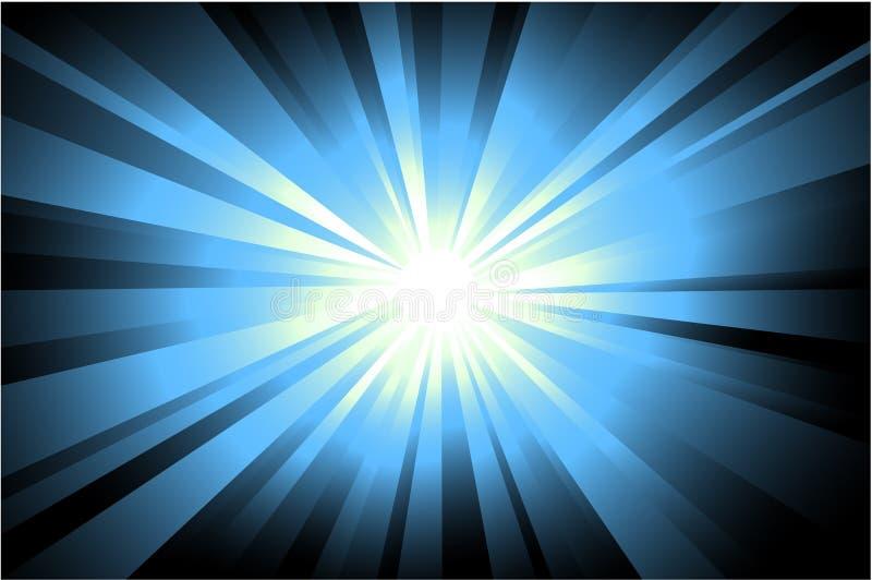 Fondo abstracto de la luz de la estrella ilustración del vector
